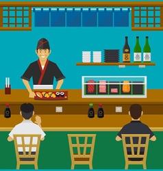 Sushi Bar Japanese Restaurant vector image