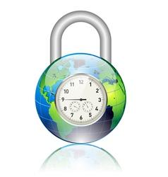 world locked vector image