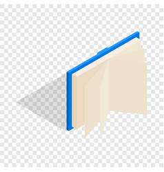 blue open book isometric icon vector image