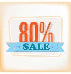 Discount labels 80 vector image