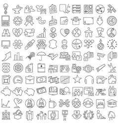 Miscellaneous thin line icons set vector image