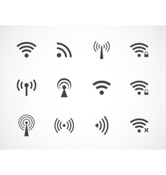 Set of different wireless and wifi icons vector image