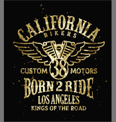 california bikers vector image