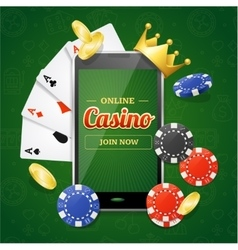 Casino Online Mobile Concept vector image vector image
