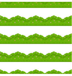 Hedge seamless pattern vector