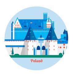 Malbork castle in polandtravel poland landmark vector