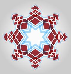 Red festive christmas star vector image