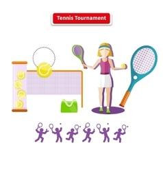 Tennis tournament concept vector
