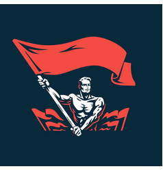 a man with flag vector image