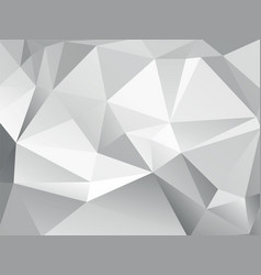 Abstract low poly geometric gray background vector