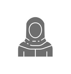 Arabian woman in traditional national dress vector