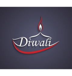 Art diwali text design vector