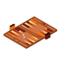 backgammon game isometric vector image