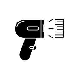 Barcode scanner black glyph icon asset tracking vector