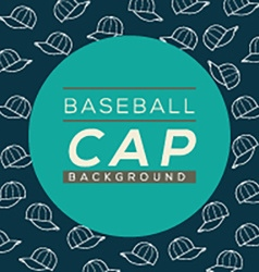 Baseball Caps Background vector image