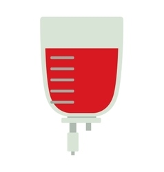 Blood transfusion flat vector image