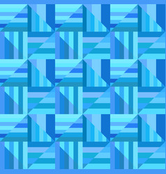 blue geometrical striped triangle mosaic tile vector image