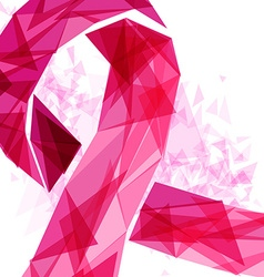 Breast Cancer Awareness design of abstract ribbon vector