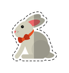 cartoon easter bunny cute symbol vector image