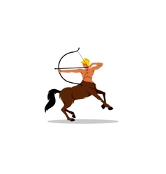 Centaur archer sign vector image