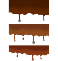 Chocolate stains vector image