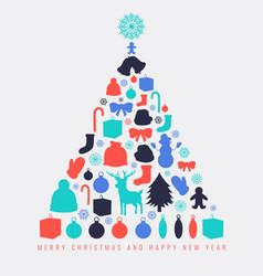 Christmas greeting card with merry christmas and vector