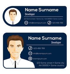 Corporate email signature modern design vector