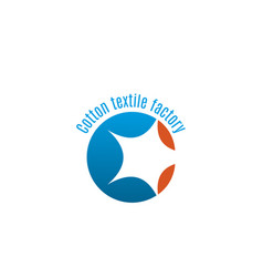cotton textile factory emblem vector image