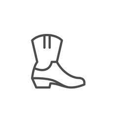 Cowboy boot line icon vector