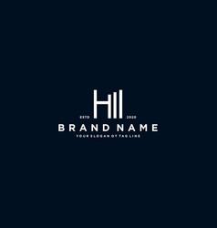 Creative letter h financial chart logo design vector