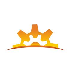 Dawn of engineering symbol design vector