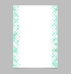 Diagonal square pattern brochure template - vector