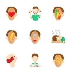 Feeling icons set cartoon style vector image