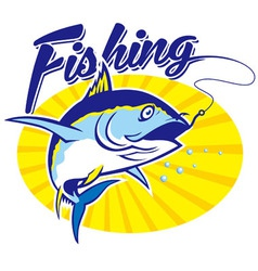 Fishing tuna vector