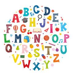 font concept design vector image