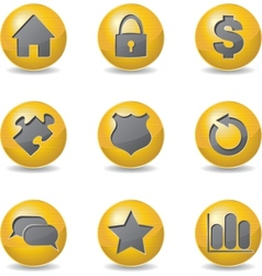 Golden buttons vector