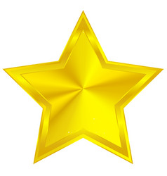 golden star with conical gradient vector image