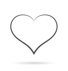 Grey Heart Icon isolated on white vector image