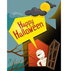 Halloween Mummy and Window vector image