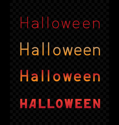 Halloween text dark transparent background vector