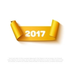 happy new year 2017 paper roll banner vector image