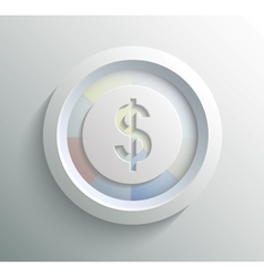 Icon dollar vector