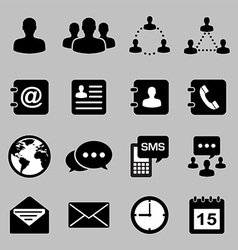 Icon set of business eps 10 vector image