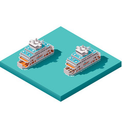 Isometric ferry vector