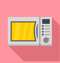 kitchen microwave icon flat style vector image