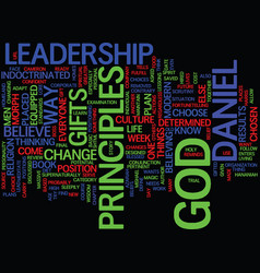 Leadership lessons from daniel text background vector