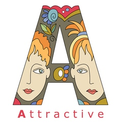 Letter A attractive vector image