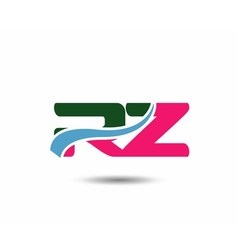 Letter r and z logo vector image