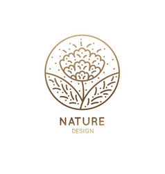 Logo flower blossom vector