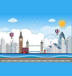 london city lin scene vector image